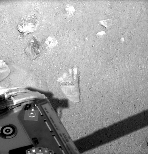 Phoenix robotic arm footprint