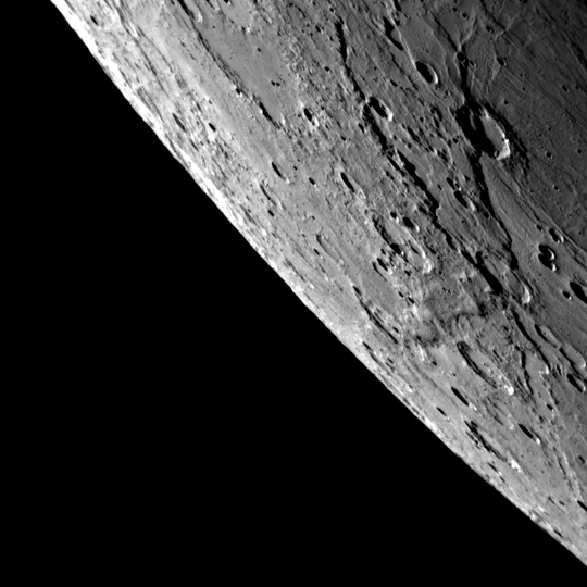 Mercury by MESSENGER. Click to enlarge.