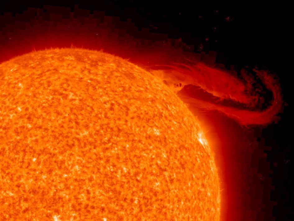 Solar Prominence Eruption