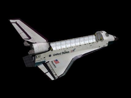 Modelo en 3D del Shuttle