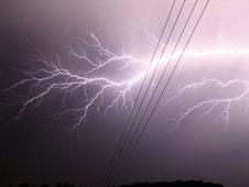 Horizontal lightning bolt