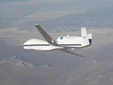 NASA's Global Hawk unmanned drone, based at Dryden Flight Research Center in California, will provide unprecedented, sustained observations of the formation and strengthening of tropical cyclones during this summer's GRIP campaign.