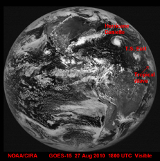 GOES 15 image of Earth