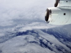 NASA�s DC-8 flew to Hurricane Earl four times in the past week to collect data as Earl both strengthened and weakened.