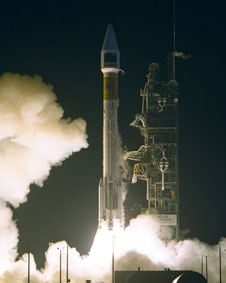 SOHO launching on the Atlas II-AS (AC-121) at Cape Canaveral Air Station on December 2, 1995.