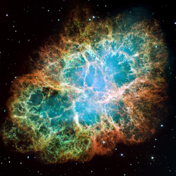Crab Nebula by Hubble