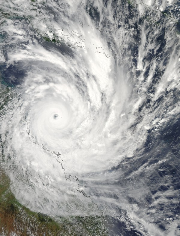 Nasa - Hurricane Season 2011 Tropical Cyclone Yasi South