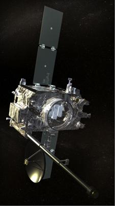 Artist rendering of STEREO spacecraft.