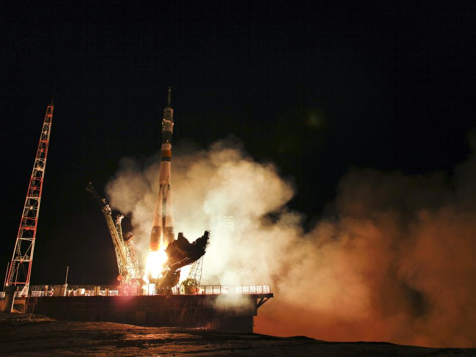 Soyuz TMA-02M spacecraft lift off