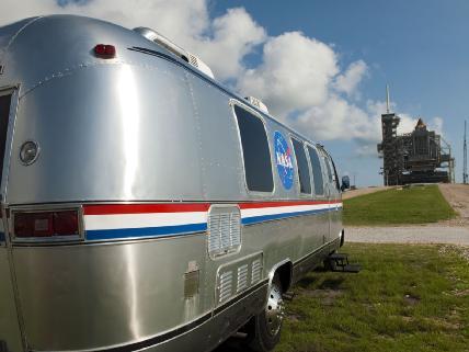 Astrovan Awaits Astronauts