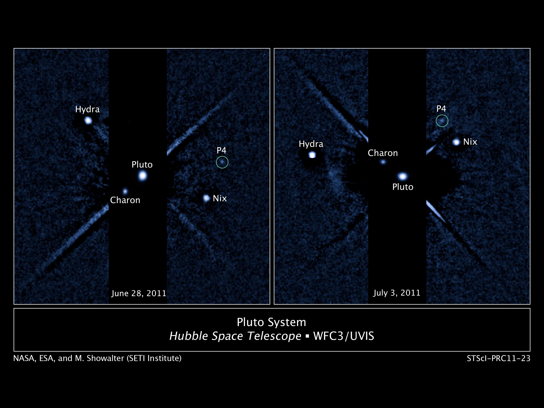 प्लूटो का नया चंद्रमा पी 4
