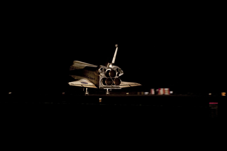 अपने अंतिम अभियान एस टी एस 135 से अंटलांटीस अंतरिक्ष शटल की वापिसी