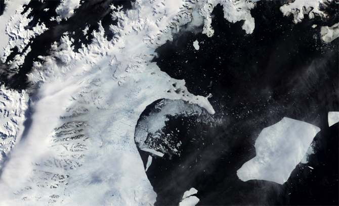 disintegration of Larsen B ice shelf