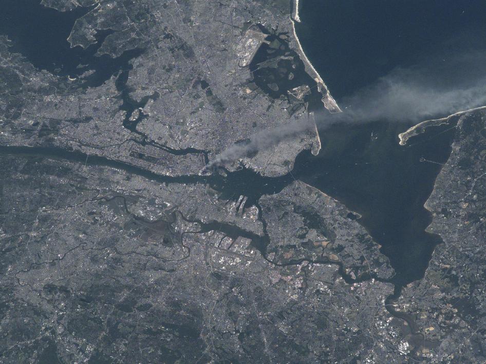 Elfte september-attacken sedd från rymden