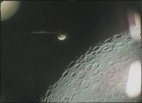 Apollo 16 film showing the object in question