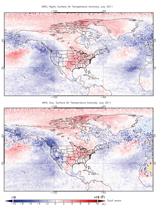 surface temperature anomaly maps
