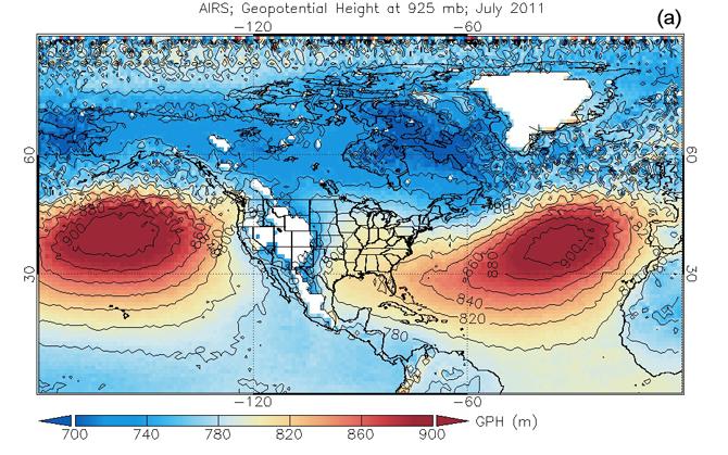 atmospheric surface pressure map