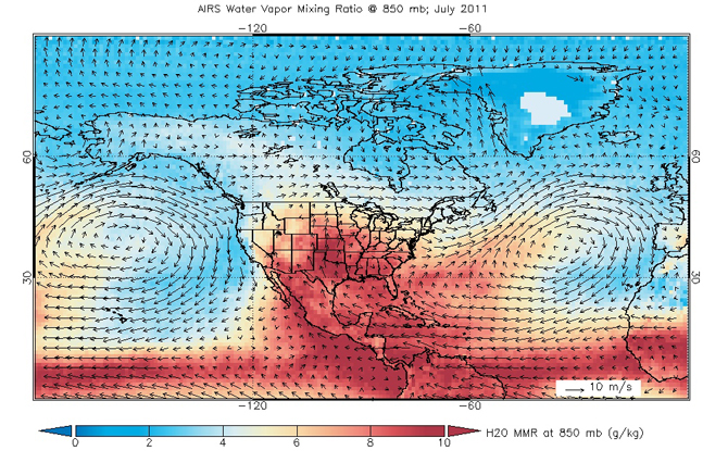 wind map from AIRS data