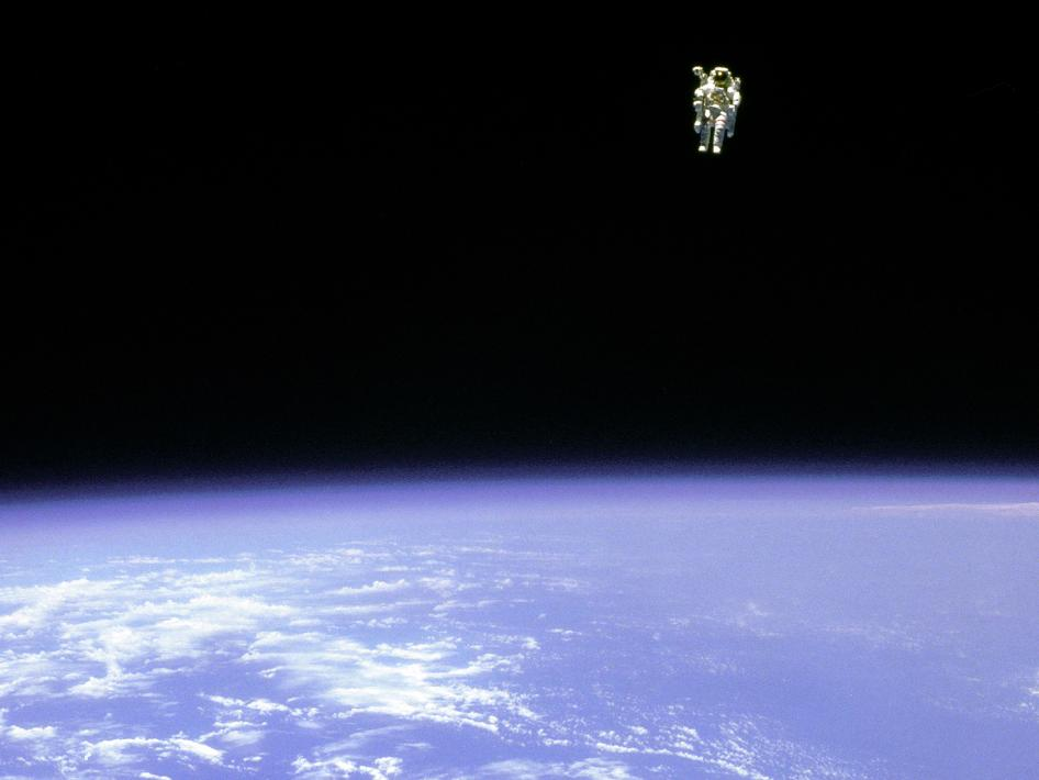 Astronaut McCandless in space