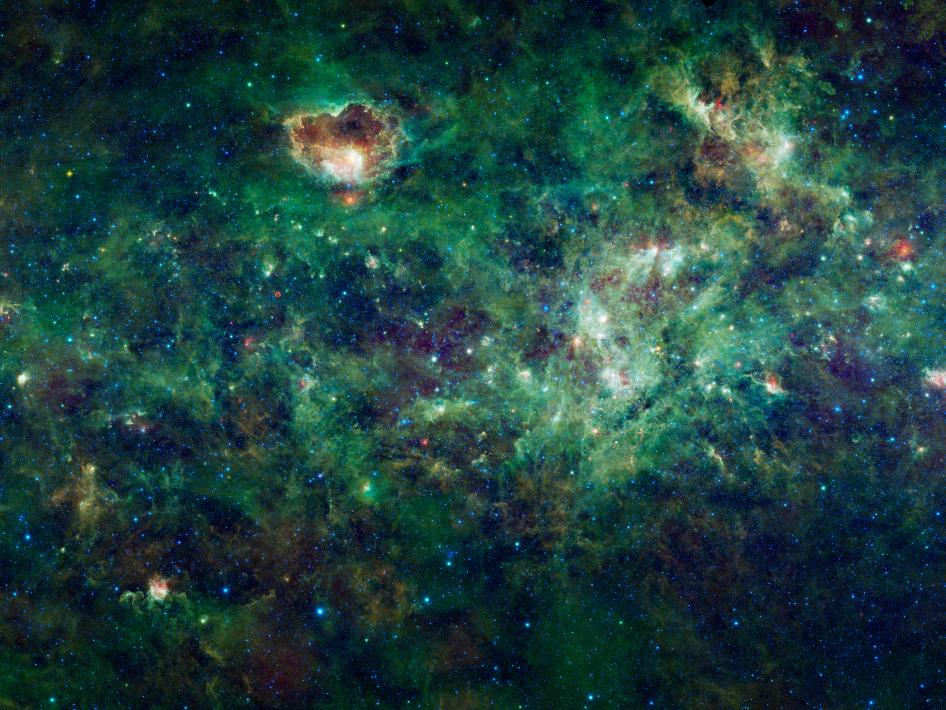 Section of the Milky Way galaxy