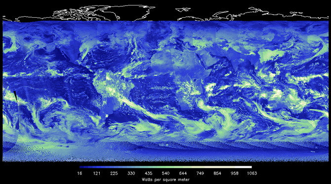 CERES shortwave data visualization