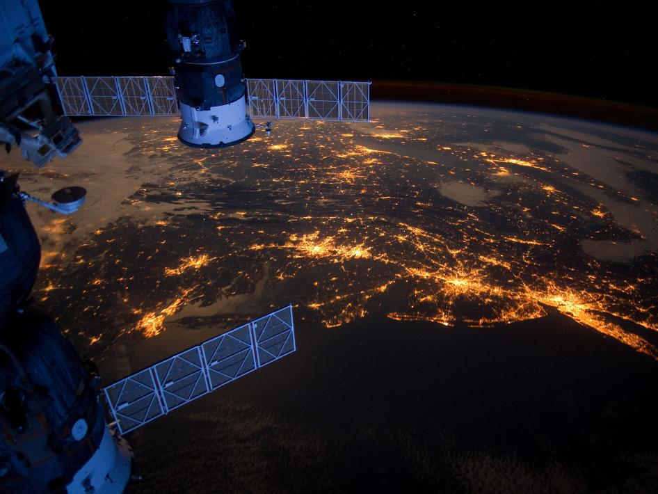 Eastern Seaboard at Night