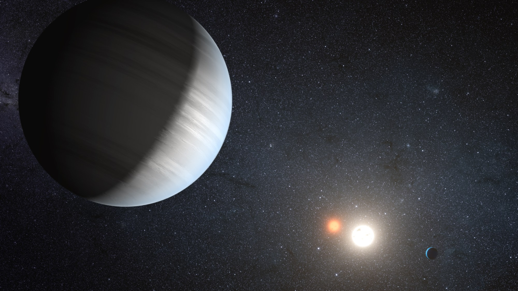 hight resolution of kepler finds a planet in a binary star s habitable zone