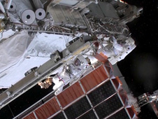 Expedition 35 Flight Engineers Chris Cassidy and Tom Marshburn perform a spacewalk