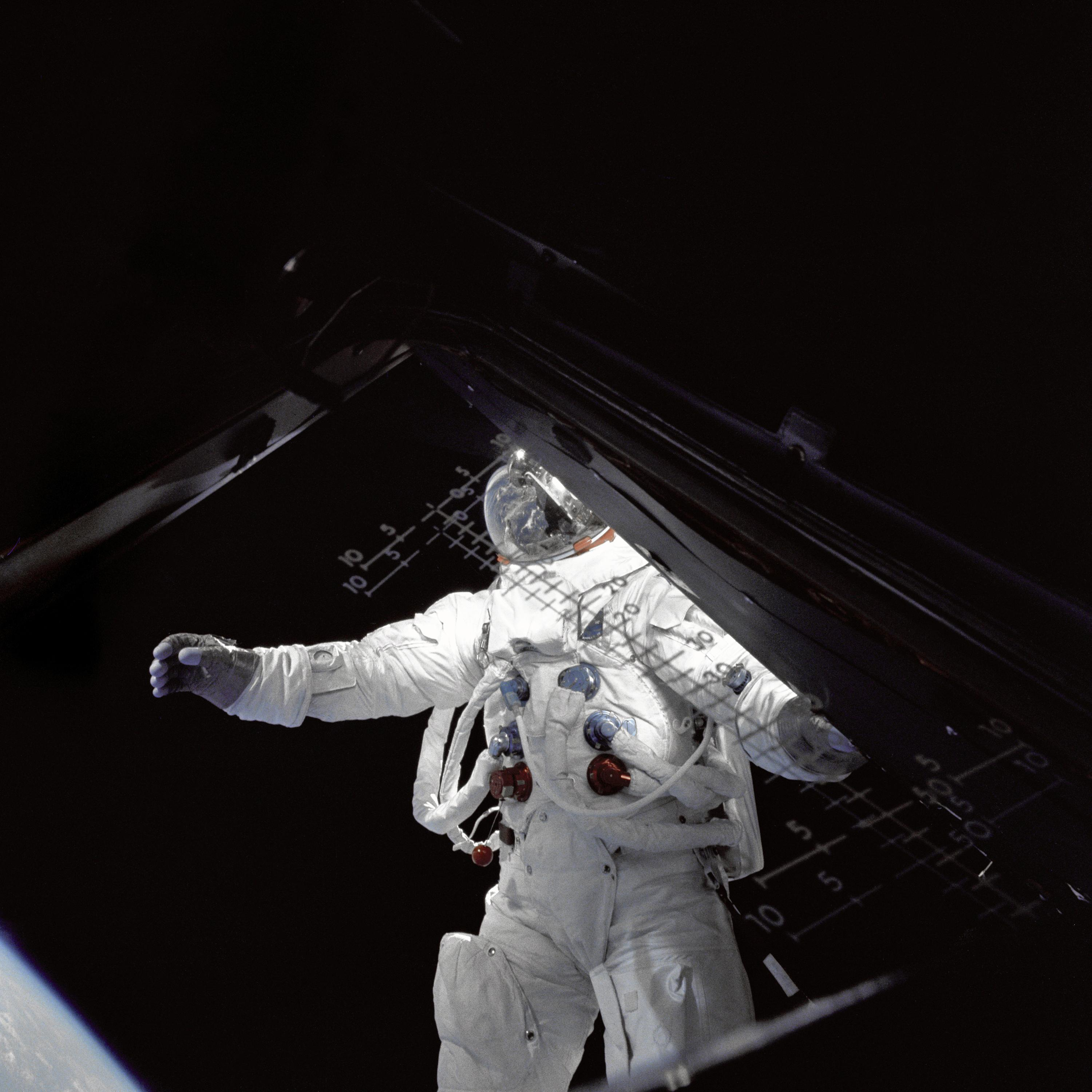 Image result for rusty schweickart space walk images