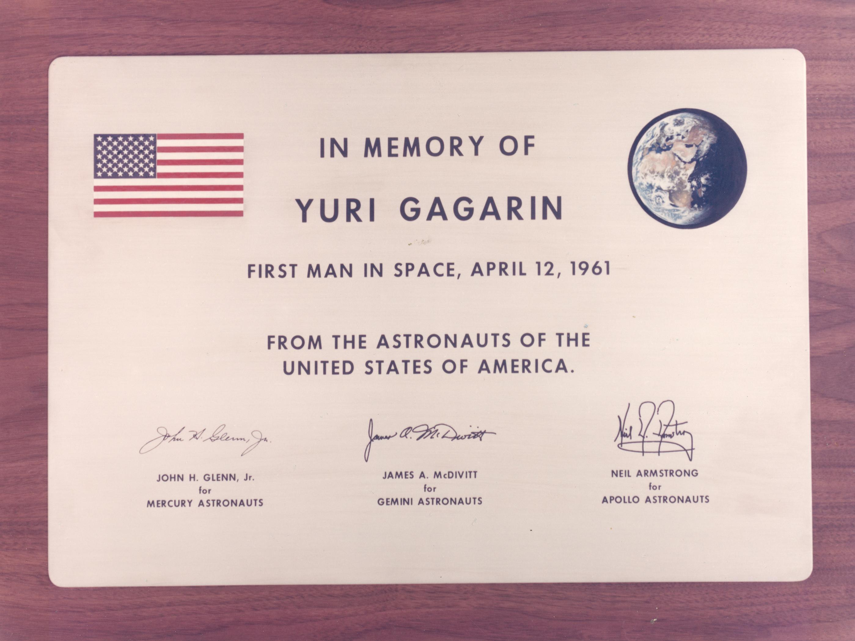 Yuri Gagarin Quotes Wallpaper Memorial Plaque For Yuri Gagarin Nasa