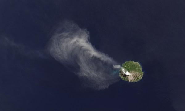 Landsat Thermal Sensor Lights Volcano' Heat Nasa