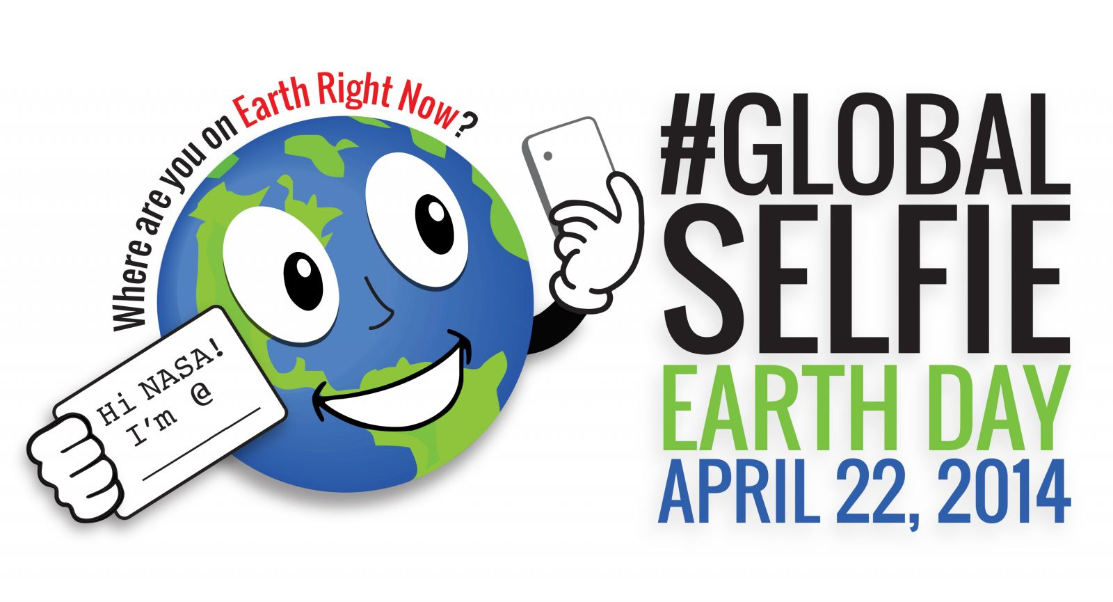 #GlobalSelfie on Earth Day for NASA