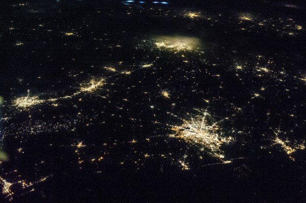 Texas at Night From Space