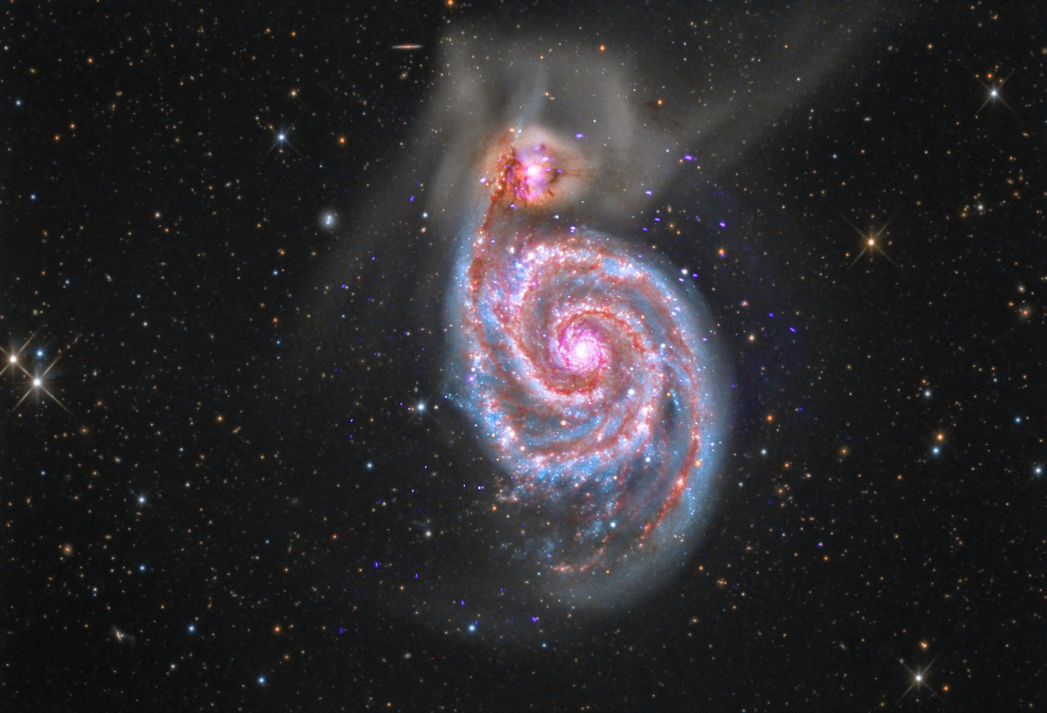 Spiral Galaxy M51  NASA
