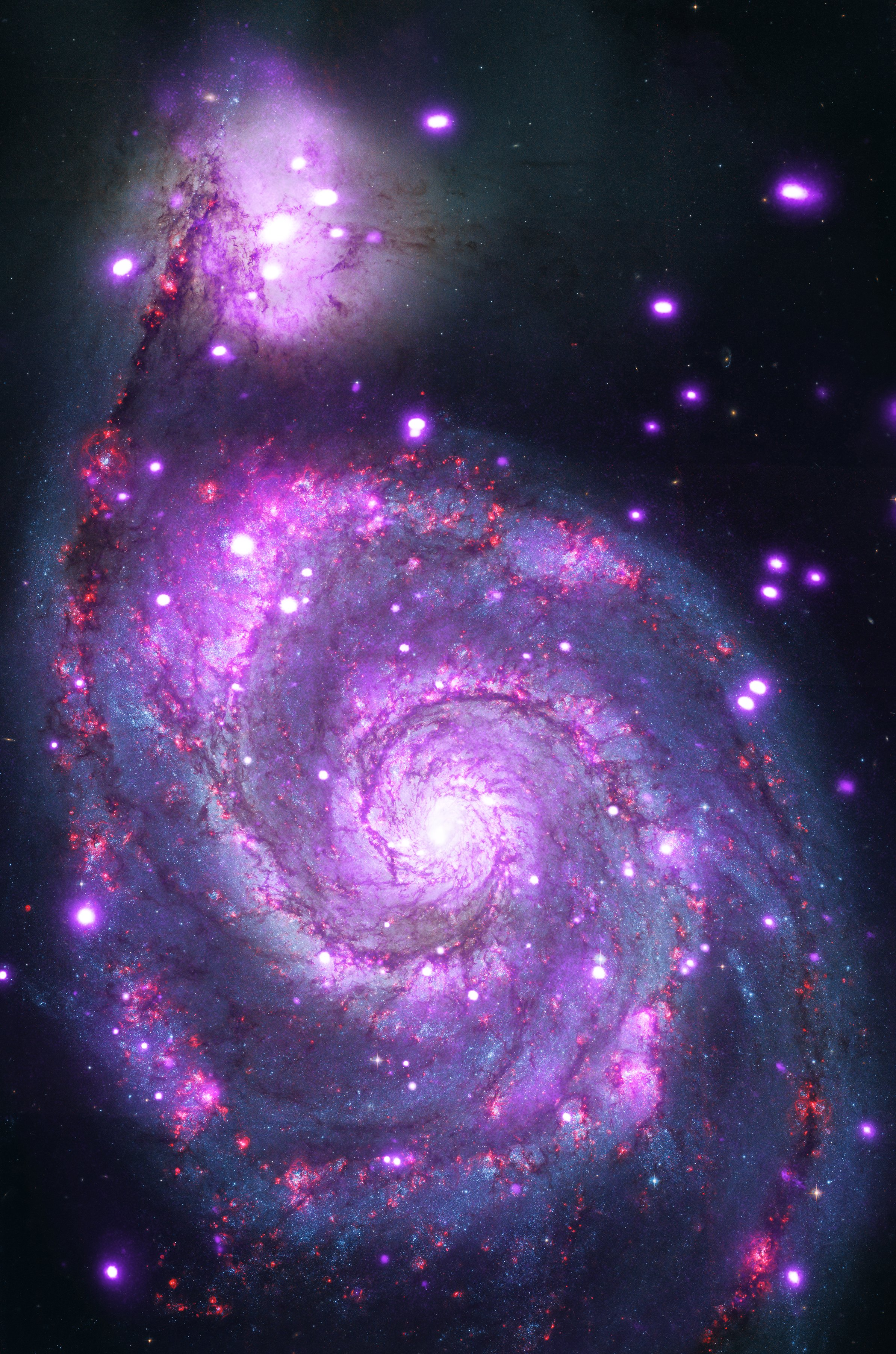 chandra captures galaxy sparkling