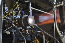 Rocket engine parts made by 3-D manufacturing in copper alloy undergo hot-fire testing