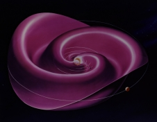 An artist's concept of the heliospheric current sheet.