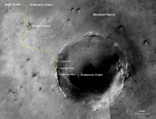 Opportunity's first decade of driving on Mars