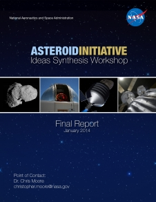 Cover image for the Asteroid Initiative Ideas Synthesis Final Report