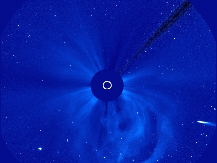 Comet ISON Streams Toward the Sun
