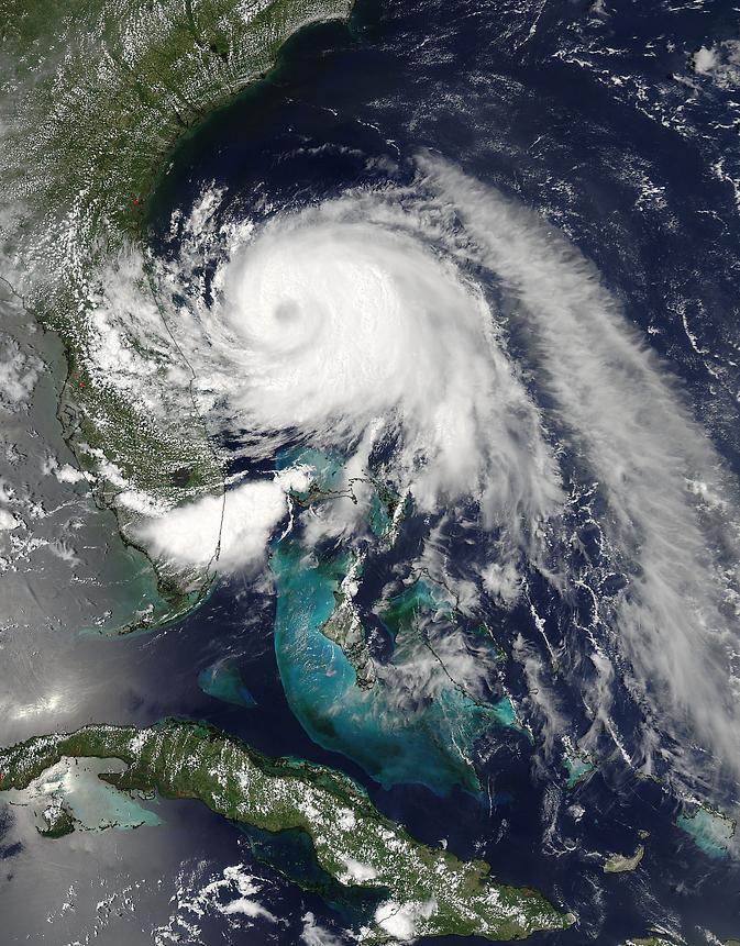 MODIS image of Arthur