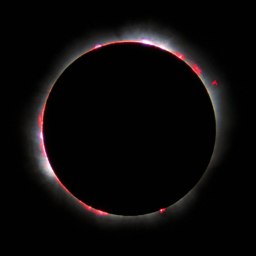 Chromosphere during solar eclipse