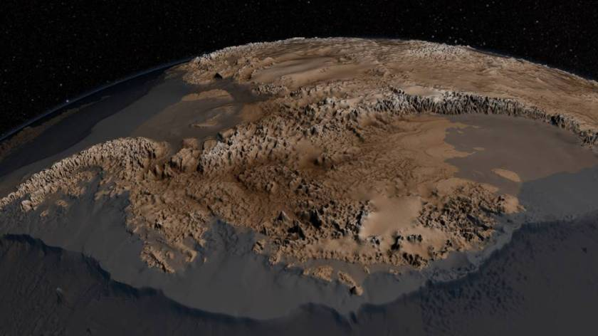 The new bedrock map of Antarctica developed in 2013 from IceBridge and other data was far more detailed than previous maps, givi