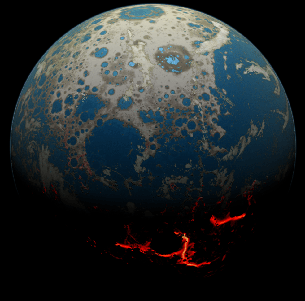 Artist's conception of Early Earth