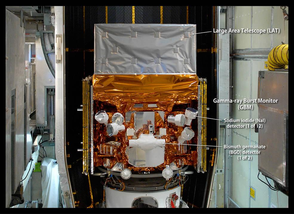 Labeled image of Fermi telescope