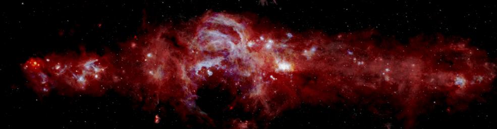 Samanyolu Gökadamızın merkezinin kompozit kızılötesi görüntüsü