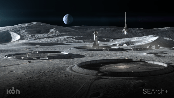 Image provided by ICON, which is working with NASA's Moon to Mars Autonomous Construction Technologies project.