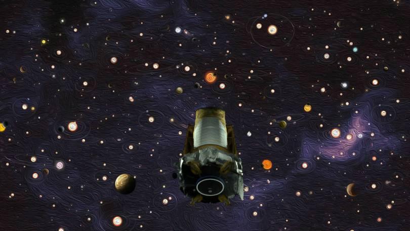 kepler eof 08 01 ws oil paint filter 0 - NASA aposenta telescópio espacial Kepler e passa a tocha de caça a planetas