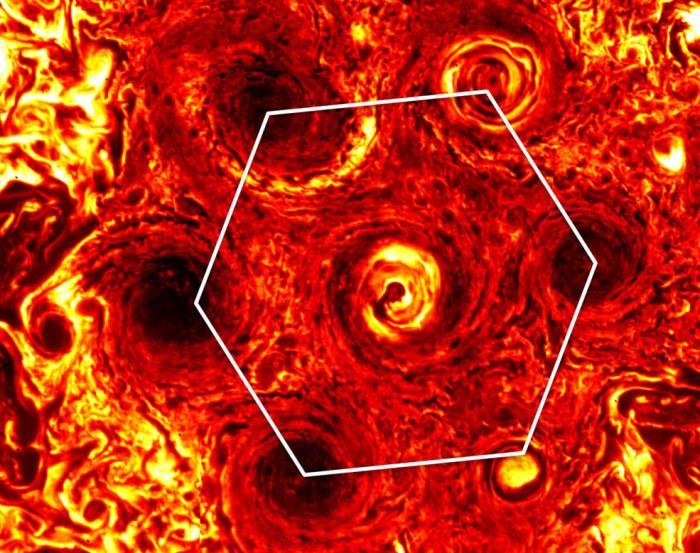 Infrared image of Jupiter