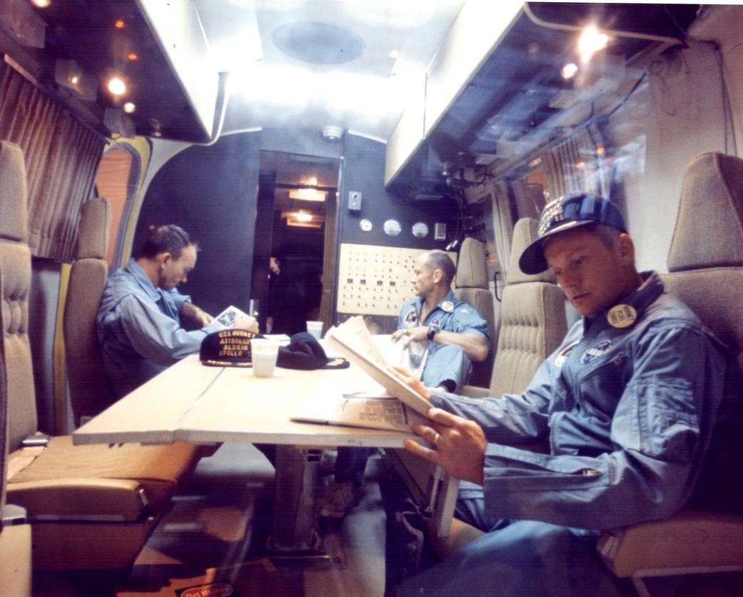 Collins, Aldrin e Armstrong